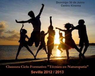 Clausura del Ciclo Formativo TECNICO EN NATUROPATIA en Sevilla 2012/2013