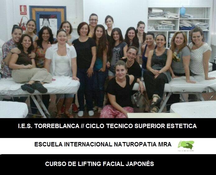 Curso Masaje Lifting Facial Japonés en su versión naturopática en el IES TORREBLANCA (SEVILLA)