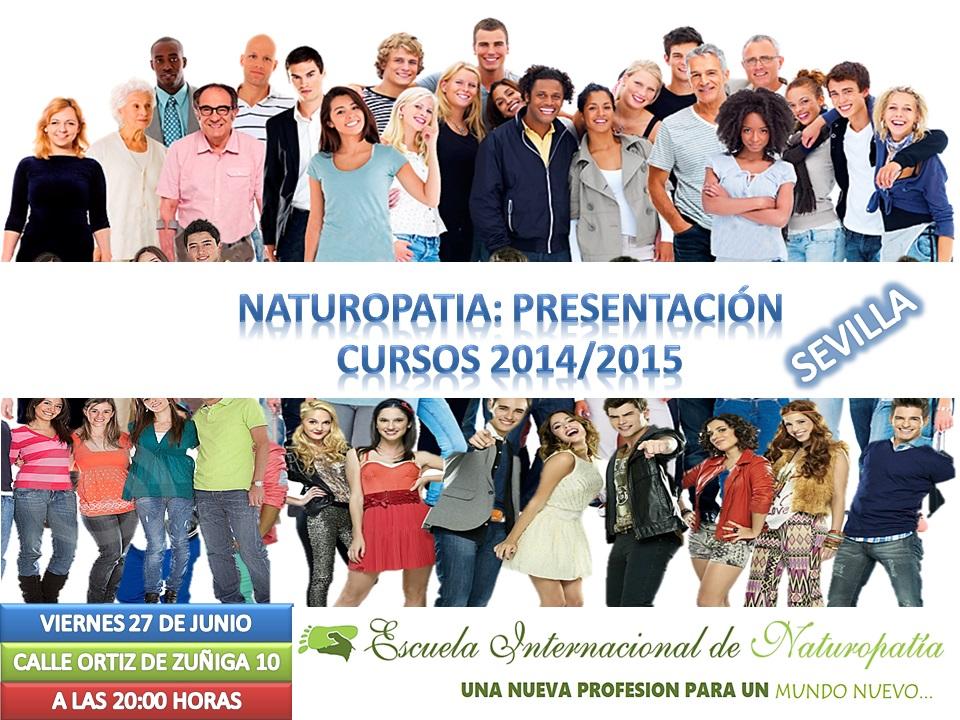 SEVILLA: Presentación Cursos Naturopatía Profesionales 2014/2015