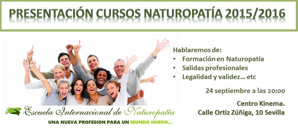 SEVILLA: Presentación Cursos Naturopatía 2015/2016