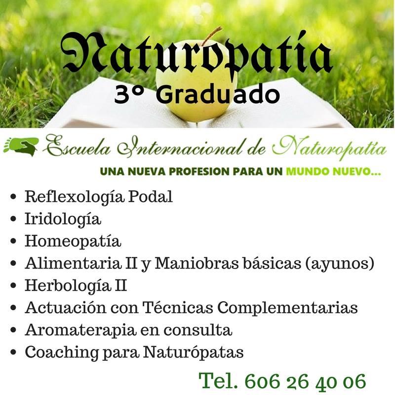 Estudiar 3º de Graduado en Naturopatía