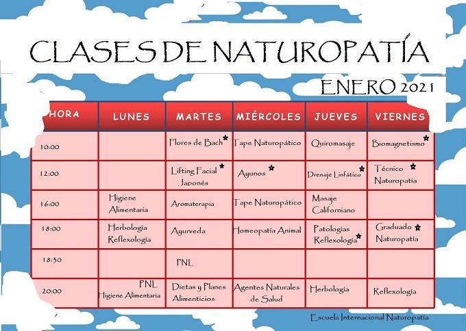 Cursos Naturopatía Enero 2021
